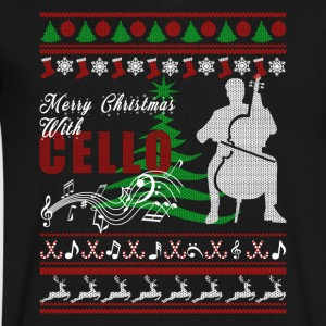 Cello Shirt - Cello Christmas Shirt - Men's V-Neck T-Shirt by Canvas
