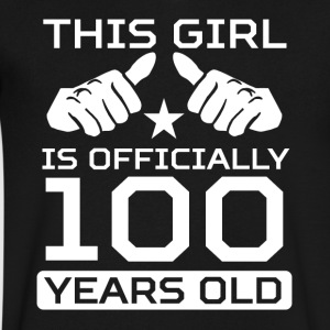 This Girl Is 100 Years Funny 100th Birthday Shirt - Men's V-Neck T-Shirt by Canvas