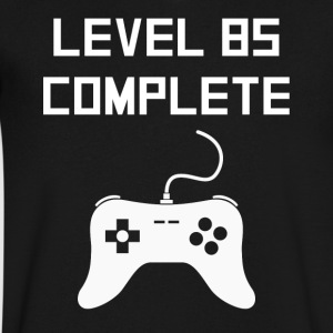Level 85 Complete Video Games 85th Birthday - Men's V-Neck T-Shirt by Canvas