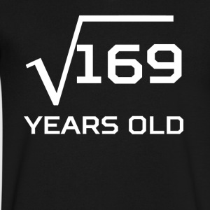 Square Root 169 Funny 13 Years Old 13th Birthday - Men's V-Neck T-Shirt by Canvas