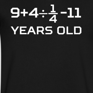 14 Years Old Algebra Equation 14th Birthday - Men's V-Neck T-Shirt by Canvas