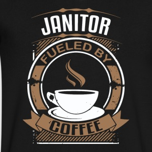 Janitor Fueled By Coffee - Men's V-Neck T-Shirt by Canvas