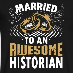 Married To An Awesome Historian - Men's V-Neck T-Shirt by Canvas