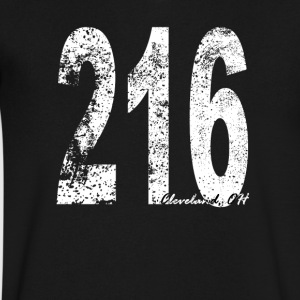 Vintage Cleveland Area Code 216 - Men's V-Neck T-Shirt by Canvas