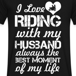 I Love Riding With My Husband - Men's V-Neck T-Shirt by Canvas