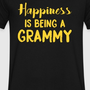 Happiness Is Being a Grammy - Men's V-Neck T-Shirt by Canvas
