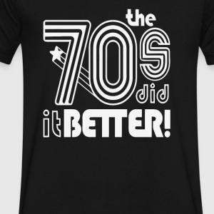 The 70 s Decade better - Men's V-Neck T-Shirt by Canvas