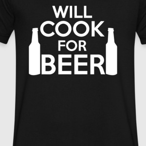 Will Cook For Beer - Men's V-Neck T-Shirt by Canvas