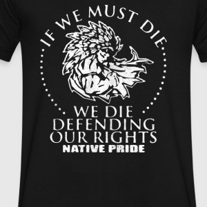Defend Native American Rights - Men's V-Neck T-Shirt by Canvas