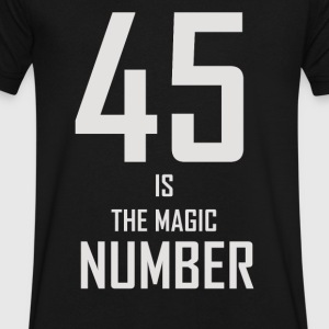 45 Is The Magic Number - Men's V-Neck T-Shirt by Canvas