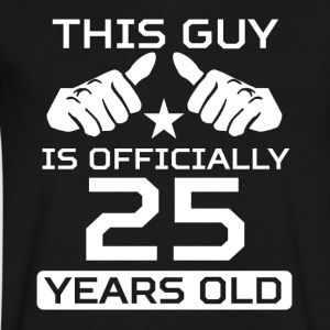 This Guy Is 25 Years Funny 25th Birthday - Men's V-Neck T-Shirt by Canvas
