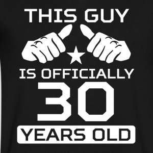 This Guy Is 30 Years Funny 30th Birthday - Men's V-Neck T-Shirt by Canvas