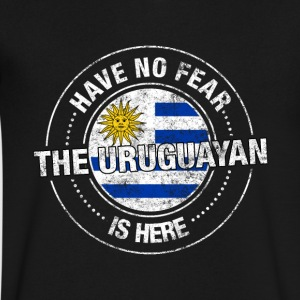 Have No Fear The Uruguayan Is Here - Men's V-Neck T-Shirt by Canvas