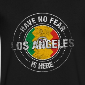 Have No Fear Los Angeles Is Here - Men's V-Neck T-Shirt by Canvas