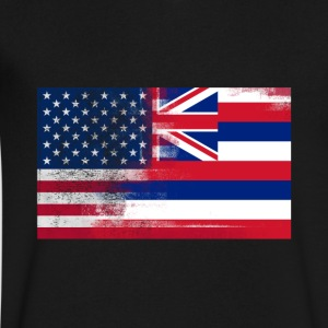 Hawaii American Flag Fusion - Men's V-Neck T-Shirt by Canvas
