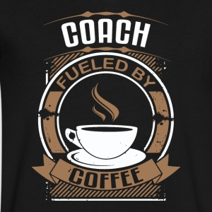 Coach Fueled By Coffee - Men's V-Neck T-Shirt by Canvas