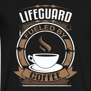 Lifeguard Fueled By Coffee - Men's V-Neck T-Shirt by Canvas