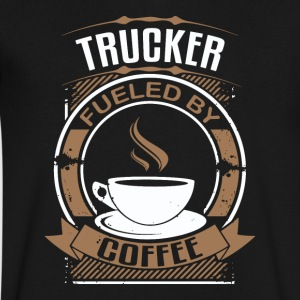 Trucker Fueled By Coffee - Men's V-Neck T-Shirt by Canvas