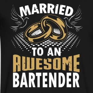 Married To An Awesome Bartender - Men's V-Neck T-Shirt by Canvas