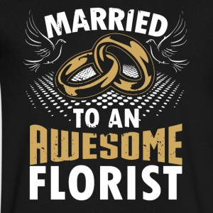Married To An Awesome Florist - Men's V-Neck T-Shirt by Canvas