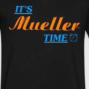 It's Robert Mueller Time Resist Anti Trump Shirt - Men's V-Neck T-Shirt by Canvas