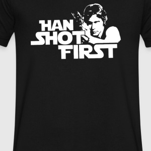 Shot First - Men's V-Neck T-Shirt by Canvas