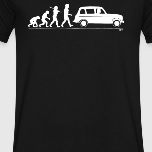 Evolution of Man classic car - Men's V-Neck T-Shirt by Canvas