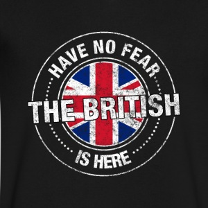 Have No Fear The British Is Here - Men's V-Neck T-Shirt by Canvas