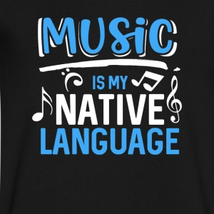 Music is my native language - Men's V-Neck T-Shirt by Canvas