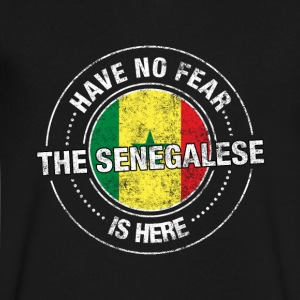 Have No Fear The Senegalese Is Here Shirt - Men's V-Neck T-Shirt by Canvas