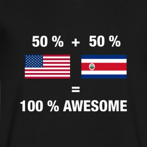 Costa Rican American Half Costa Rica Half America - Men's V-Neck T-Shirt by Canvas