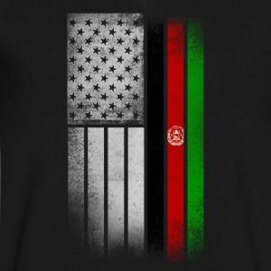 Afghan American Flag - Men's V-Neck T-Shirt by Canvas
