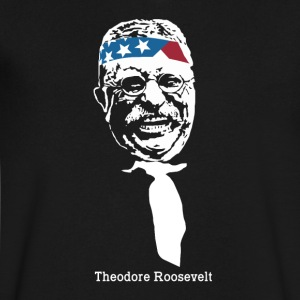 President Theodore Roosevelt American Patriot - Men's V-Neck T-Shirt by Canvas
