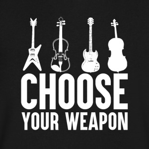 Choose your Weapon - Music - Men's V-Neck T-Shirt by Canvas