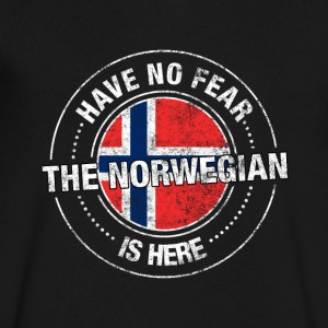 Have No Fear The Norwegian Is Here Shirt - Men's V-Neck T-Shirt by Canvas