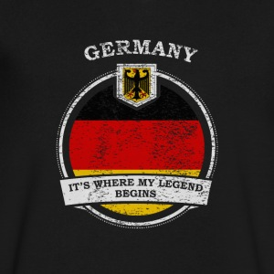 Germany It's Where My Legend Begins - Men's V-Neck T-Shirt by Canvas