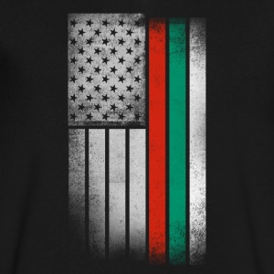 Bulgarian American Flag - Men's V-Neck T-Shirt by Canvas