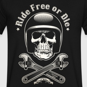 Ride Free or Die - Men's V-Neck T-Shirt by Canvas