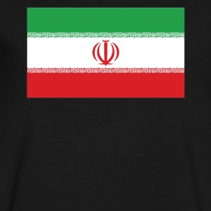 Flag of Iran Cool Iranian Flag - Men's V-Neck T-Shirt by Canvas