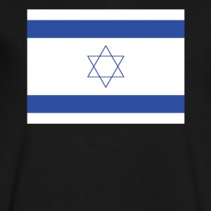 Flag of Israel Cool Israeli Flag - Men's V-Neck T-Shirt by Canvas