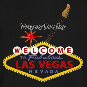 Vegas Rocks - Men's V-Neck T-Shirt by Canvas