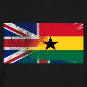 British Ghanaian Half Ghana Half UK Flag - Men's V-Neck T-Shirt by Canvas