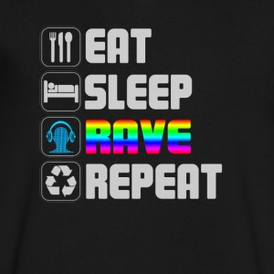 eat sleep rave repeat t-shirt - Men's V-Neck T-Shirt by Canvas