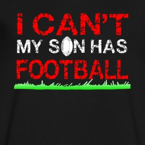 i can t my son has football - Men's V-Neck T-Shirt by Canvas
