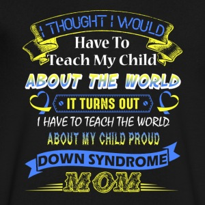 Proud Down Syndrome Mom Shirt - Men's V-Neck T-Shirt by Canvas