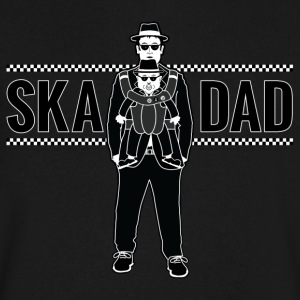 Ska Dad (with Rude Boy Son) - Men's V-Neck T-Shirt by Canvas