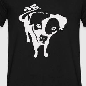 dog rescued in the bushes - Men's V-Neck T-Shirt by Canvas