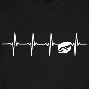 Climbing - Heartbeat - Men's V-Neck T-Shirt by Canvas
