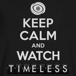 Timeless - Keep Calm And Watch Timeless - Men's V-Neck T-Shirt by Canvas