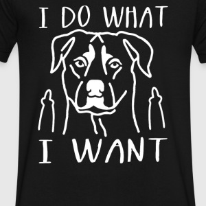 I do what I want Rottweiler - Men's V-Neck T-Shirt by Canvas